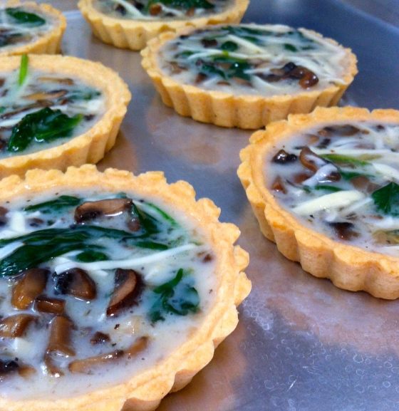 Egg White Quiche with Spinach Mushrooms and Gruyere